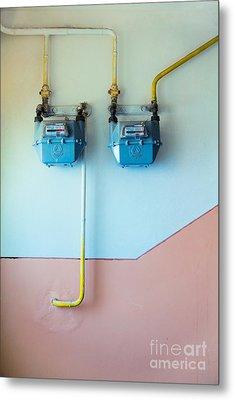 Gas Meters Metal Print by Gabriela Insuratelu