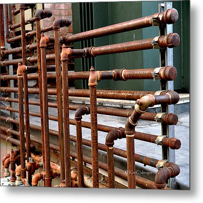Gas Pipes And Fittings Metal Print