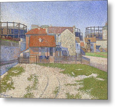 Gasometers At Clichy Metal Print