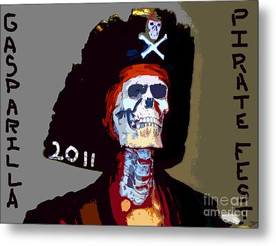 Gasparilla Pirate Fest Poster Metal Print by David Lee Thompson