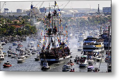 Gasparillas Wild Crew Metal Print by David Lee Thompson