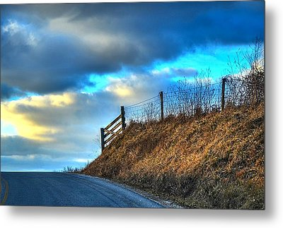 Gate At The Crest Metal Print by Julie Dant