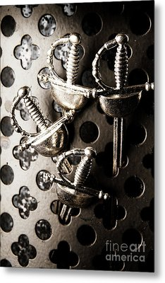 Gate Keeping The Knights Templar Metal Print by Jorgo Photography - Wall Art Gallery