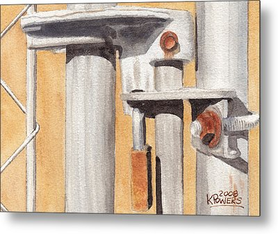Gate Lock Metal Print by Ken Powers