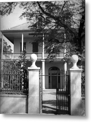 Gated Colonial Home Metal Print