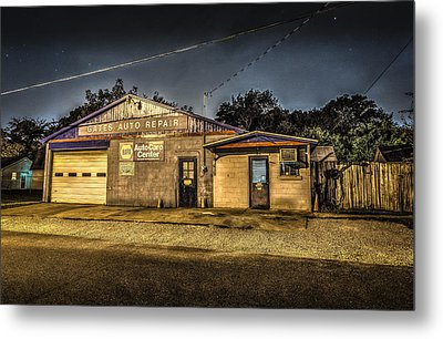 Metal Print featuring the photograph Gates Auto Repair by David Morefield