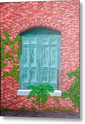 Metal Print featuring the painting Gateway To The Past by Cynthia Morgan
