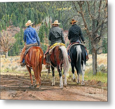 Gathering Pine Ridge Metal Print by Nichole Taylor