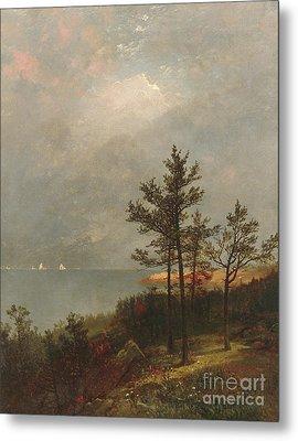 Gathering Storm On Long Island Sound, 1872 Metal Print by John Frederick Kensett