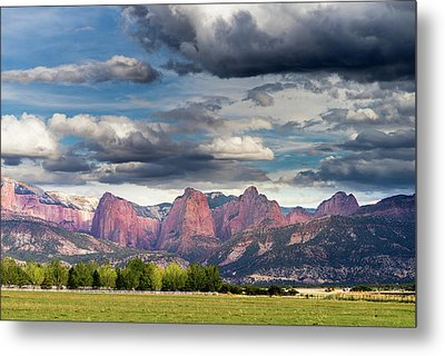 Gathering Storm Over The Fingers Of Kolob Metal Print