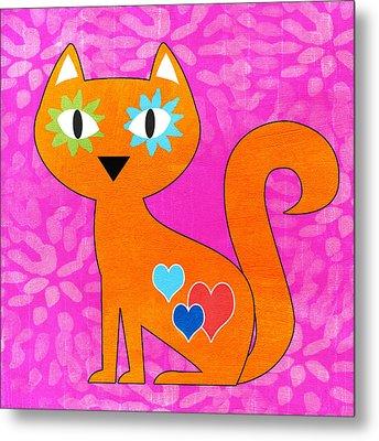 Gato Metal Print by Linda Woods