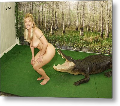Metal Print featuring the photograph Gator Bites by Lucky Cole
