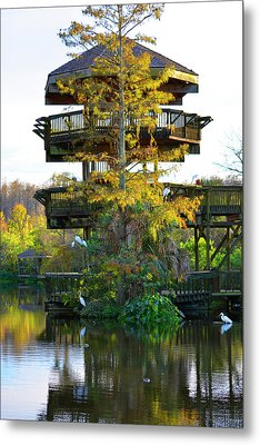 Gator Tower Metal Print by Josy Cue