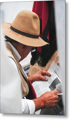 Gaucho Reading Metal Print