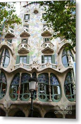 Gaudi Architecture Metal Print by Laura Kayon