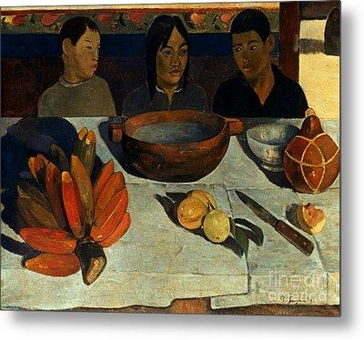 Gauguin: Meal, 1891 Metal Print by Granger
