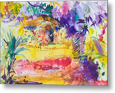 Gauguin's Garden Metal Print by Peter Graham