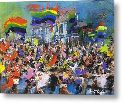 Gay Parade Metal Print