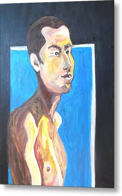 Metal Print featuring the painting Gay Survivor by Esther Newman-Cohen