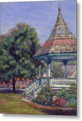 Gazebo New Boston Metal Print