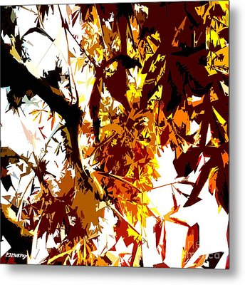 Gazing Into The Autumn Trees Metal Print by Patrick J Murphy