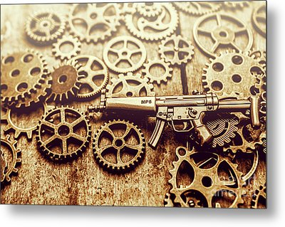 Gear Of Weapon Design Metal Print