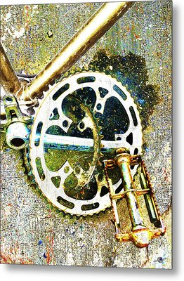 Metal Print featuring the mixed media Gear by Tony Rubino