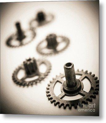 Gear Wheels. Metal Print by Bernard Jaubert