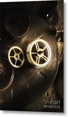 Gears Of Automation Metal Print