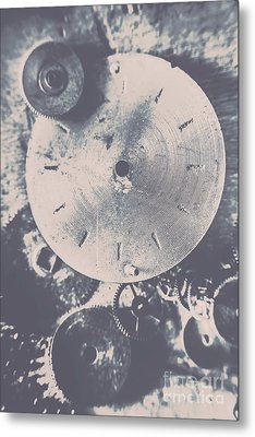Gears Of Old Industry Metal Print