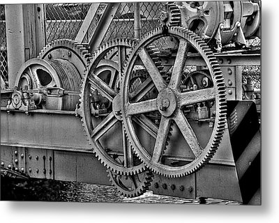 Gears Metal Print by William Wetmore