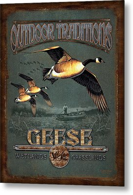 Geese Traditions Metal Print by JQ Licensing
