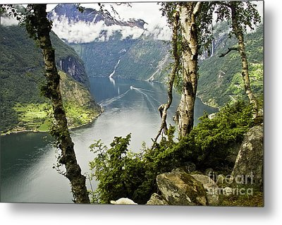 Geiranger Fjord Metal Print by Heiko Koehrer-Wagner