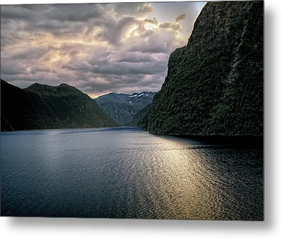 Metal Print featuring the photograph Geiranger Fjord by Jim Hill