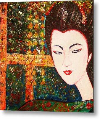 Geisha Metal Print by Anastasis  Anastasi