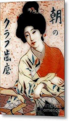 Geisha In Waiting  Metal Print by Ian Gledhill