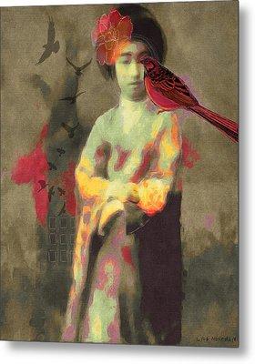 Geisha Metal Print by Lisa Noneman