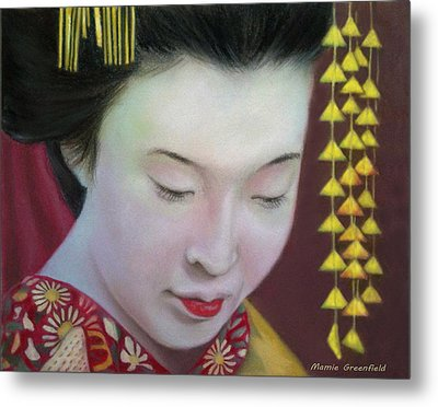 Geisha Metal Print by Mamie Greenfield