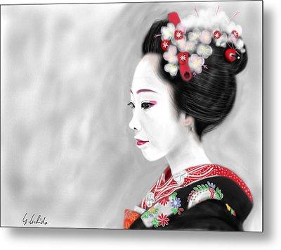 Geisha No.200 Metal Print