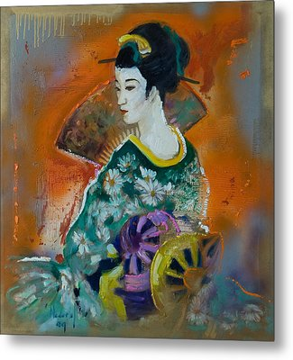 Geisha Metal Print by Rick Nederlof