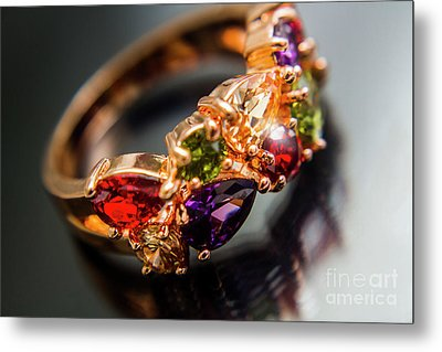 Gem Fashion Rings Metal Print by Jorgo Photography - Wall Art Gallery