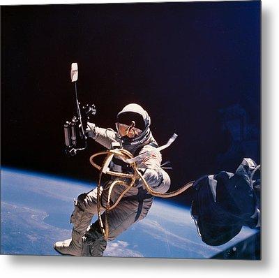 Gemini 4 Astronaut Edward H. White Metal Print by Nasa