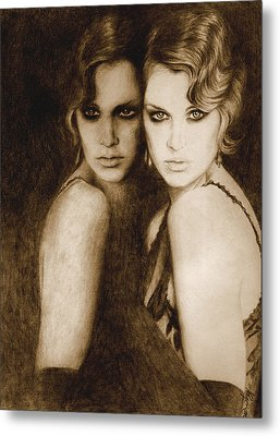 Metal Print featuring the painting Gemini by Ragen Mendenhall