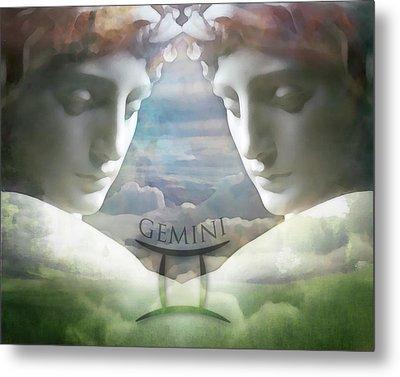Gemini Twins Metal Print by Kathleen Holley