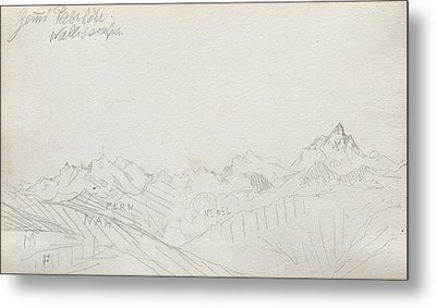 Gemmi Pass, Valais Alps Metal Print by Paul Klee