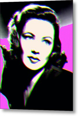 Gene Tierney Hologram Metal Print by Joy McKenzie