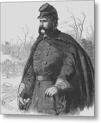 General Ambrose Burnside Metal Print by War Is Hell Store