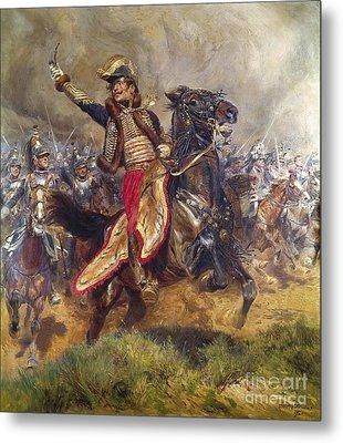 General Antoine-charles-louis Lasalle Metal Print by Jean Baptiste Edouard Detaille
