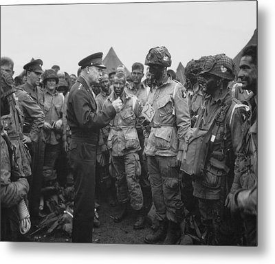General Eisenhower On D-day  Metal Print by War Is Hell Store