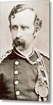 General George A Custer, 1876 Metal Print by David Frances Barry